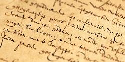 Old legal parchment