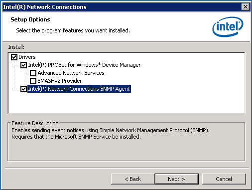 Getting useful information out of Intel NICs under Windows