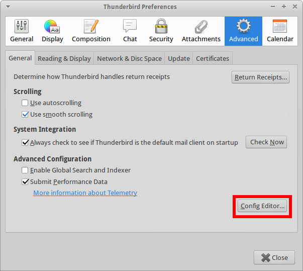 How to stop Thunderbird hammering your CPU – Rainbow Chard